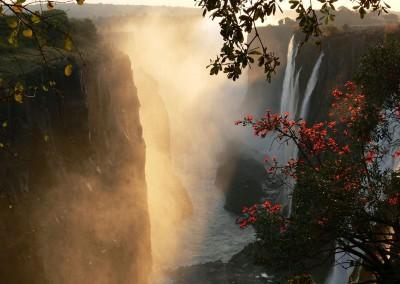 An den Victoria Wasserfällen