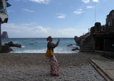Capri, am Strand