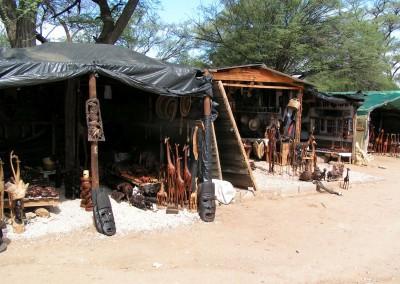 Holzschnitzermarkt in Victoria Falls