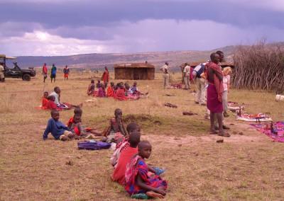 Massai-Dorf, Tansania
