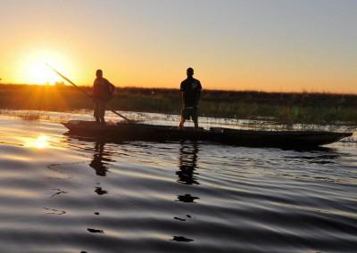 Mokoro Fahrt auf dem Okavango